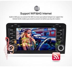 Image 4 - 4G RAM + 64G ROM أندرويد 10.0 مشغل أسطوانات للسيارة راديو مشغل وسائط متعددة لأودي A3 S3 2002 2013 الصوت لتحديد المواقع ستيريو الملاحة الفيديو