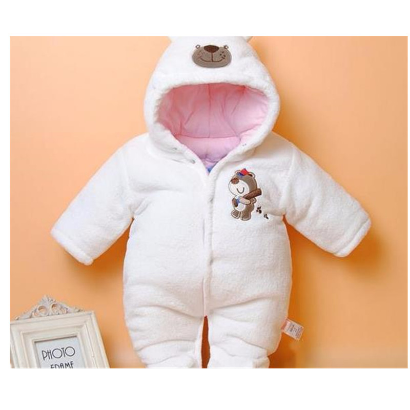 2017 Spring Babies Costume for Infant Coral Fleece Cartoon  Rompers With Long Sleeve Cotton Newborn Baby Clothes B0005 2017 spring summer newborn cartoon rompers baby clothes girls cotton long sleeve clothing bebes boy jumpsuits infant costume