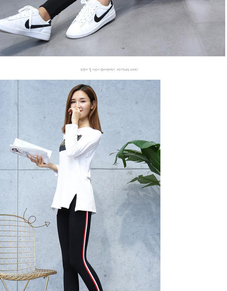 High Quality Cotton Leggings Side stripes Women Casual Legging Pant Plus Size 5XL High Waist Fitness Leggings Plump Female 22