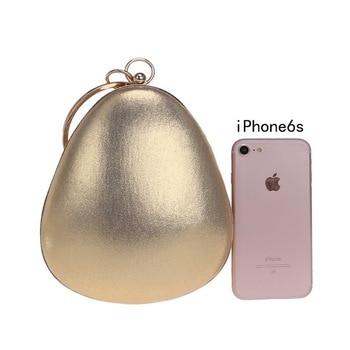 Water-drop Shape Mini Evening Clutch For Women Wedding Party Small Handbags Clutches Ladies Gold Black Bags Handbags Women