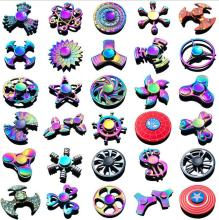 Toy Hand Spinner EDC Fidget Spinner Rainbow Metal Anti-Anxiety Toy for Spinners Focus Relieves Stress ADHD Fidget spinner metal shuriken kunai genji ninja darts tri spinner fidget toy metal edc fidgets hand spinner autism adhd increase focus ow gift cool