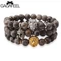 Gagafeel pulseras del encanto leo lion head casco hombres pulsera de cadena reloj de la joyería del encanto brazaletes cadenas de oro mujer hombre regalos