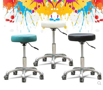 Beauty bench swivel chair style office chair. Ergonomic bench technician stool. Computer chair barber chair.. the bar chair hairdressing pulley stool swivel chair master chair technician chair