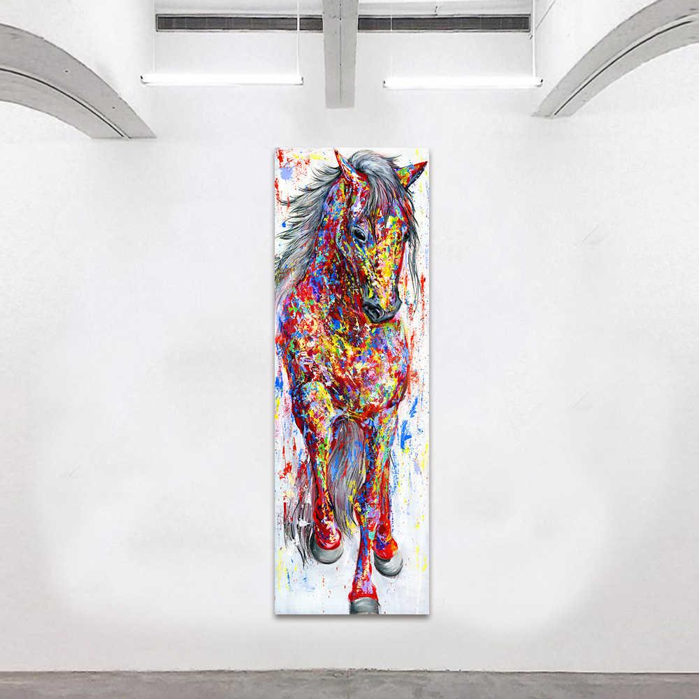 QKART настенная живопись холст принт животное картина животные принты плакат Стоящая Лошадь для гостиной домашний Декор без рамки
