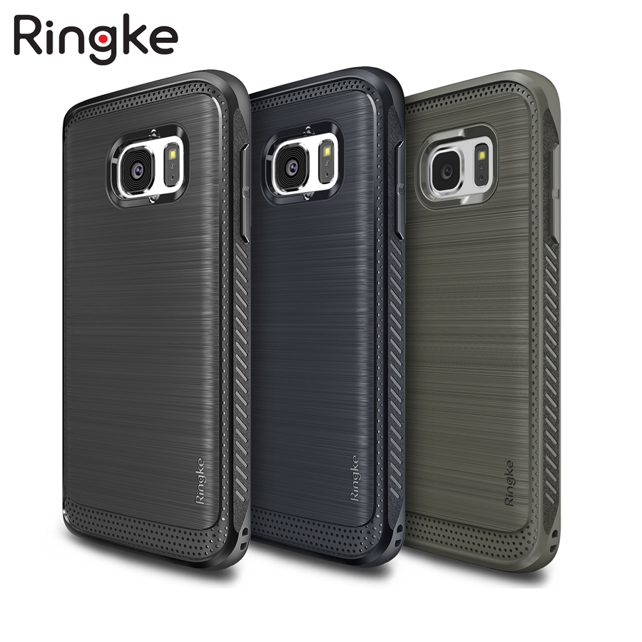 """imágenes para 5.1 """"Ringke Onyx Casos para Galaxy S7 Plana Durable Flexible de TPU Contraportada Casos para Samsung Galaxy S7 Defensiva con El Enchufe Del Polvo"""