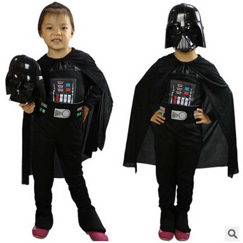 Fantasia Children Star Wars Lego Darth Vader Cosplay Halloween Costumes Disfraces Christmas Masquerade Stage performance dress