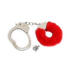 HanHaoBird sex game Handcuffs with plush Adult supplies fun plush metal Plush 3