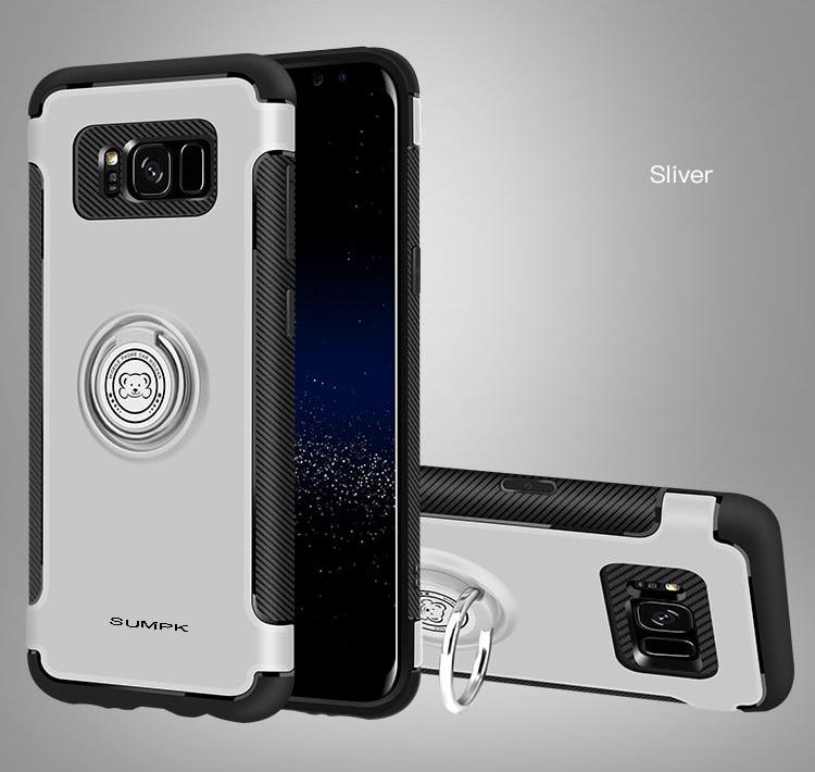 Kasus ponsel SUMPK untuk samsung s8 2 in 1 Magnetic car Holder Kasus - Aksesori dan suku cadang ponsel - Foto 4