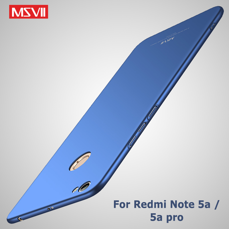 MSVII Cover Xiaomi Redmi Note 5a Prime Case Xiaomi Redmi Note 5 Pro Case Xaomi Note 5 a Hard PC Cover For Xiaomi Redmi Note5 Pro