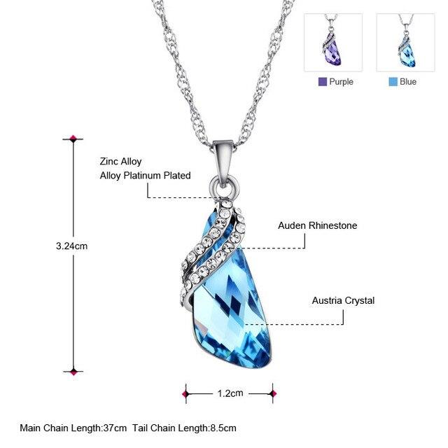 Neoglory  Austria Crystal  Fashion Auden Rhinestone Pendants Necklaces for Women Jewelry Evening Dress 2017 New B1