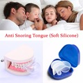 HOT SALE! Anti Snore Tongue Soft Transparent Medical Silicone Sleep Apnea Night Guard Anti Stop Snore Device Tongue Retainer
