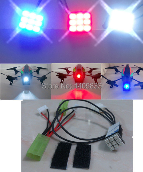 Parrot AR.Drone 2.0 Quadcopter Helicopter ight Flight Bright LED Lamps Head Light & LED Light Power Patch cord Wire Cable Kit l ight lt12