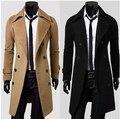 Free Shipping !!! Men's Windbreaker Jacket Slim Sided Double-Breasted Wool Coat Long Woolen Coat  Dust coat M-3XL