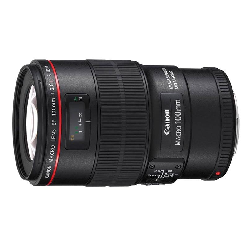 купить New Canon EF 100mm F2.8 L IS USM Macro Lens For 5D III 5DS 7D II 70D 80D 6D 760D онлайн