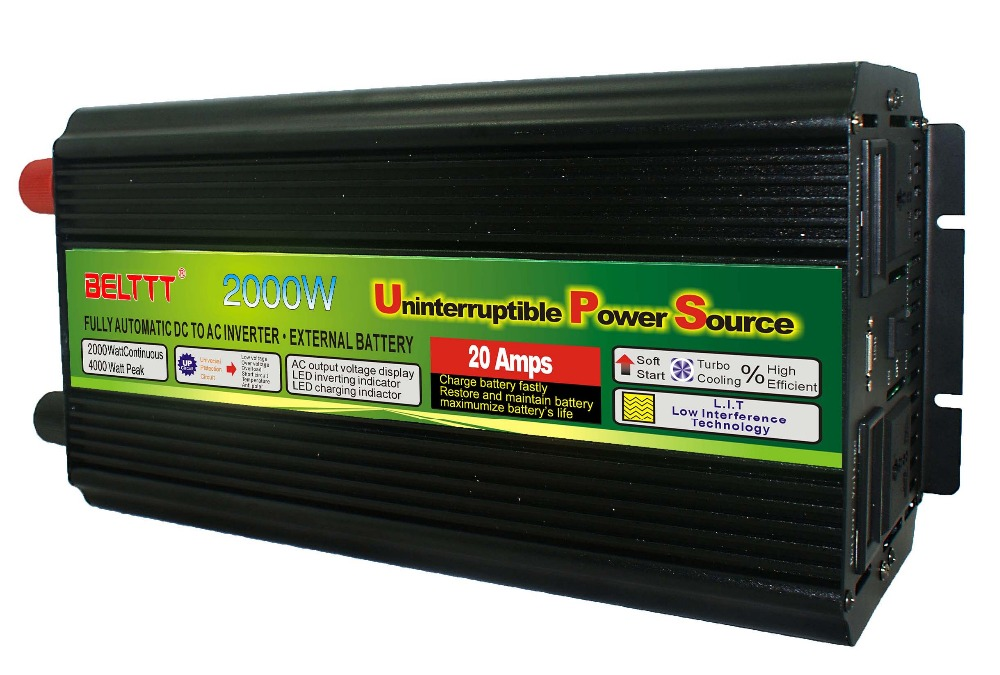 цена на peak power 4000W cheap 2000W Modified Sine Wave Power Inverter With UPS Charge DC12V-AC220V-2000W USB