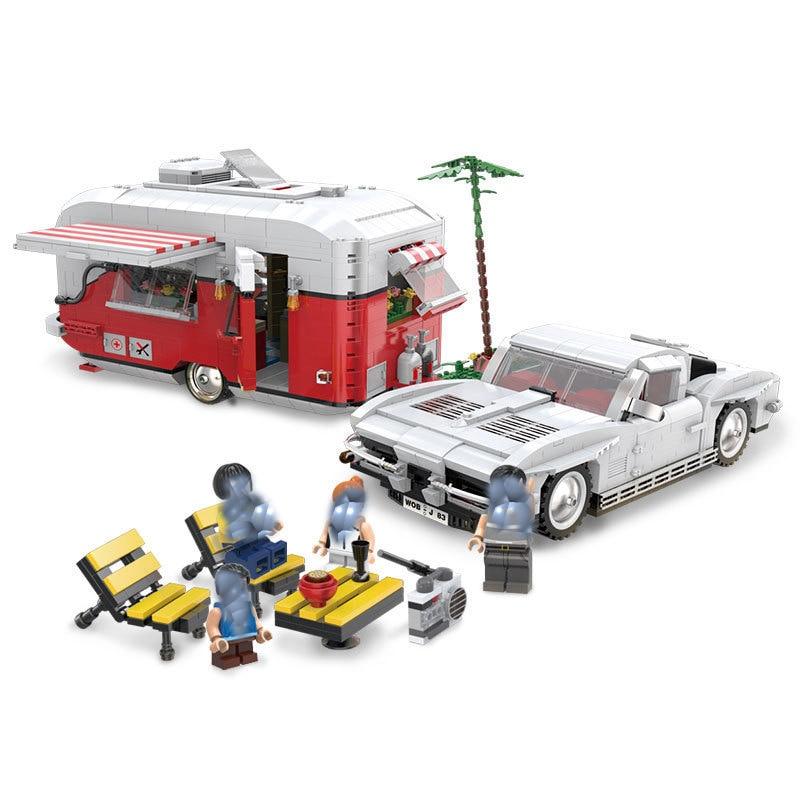 все цены на StZhou 2436Pcs New Creative Series The MOC Camper Set Children Educational Building Blocks Bricks Toys Model Boys Gifts онлайн