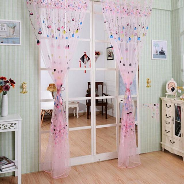 hot blue pink curtain window curtains screen balloon pattern home decor balloon curtains screens l200