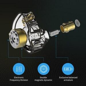 Image 4 - KZ ZSN PRO 1BA+1DD Hybrid In Ear Earphone Monitor Running Sport Earphone HIFI Headset Earbud Detachable Detach 2Pin Cable KZ ZSN