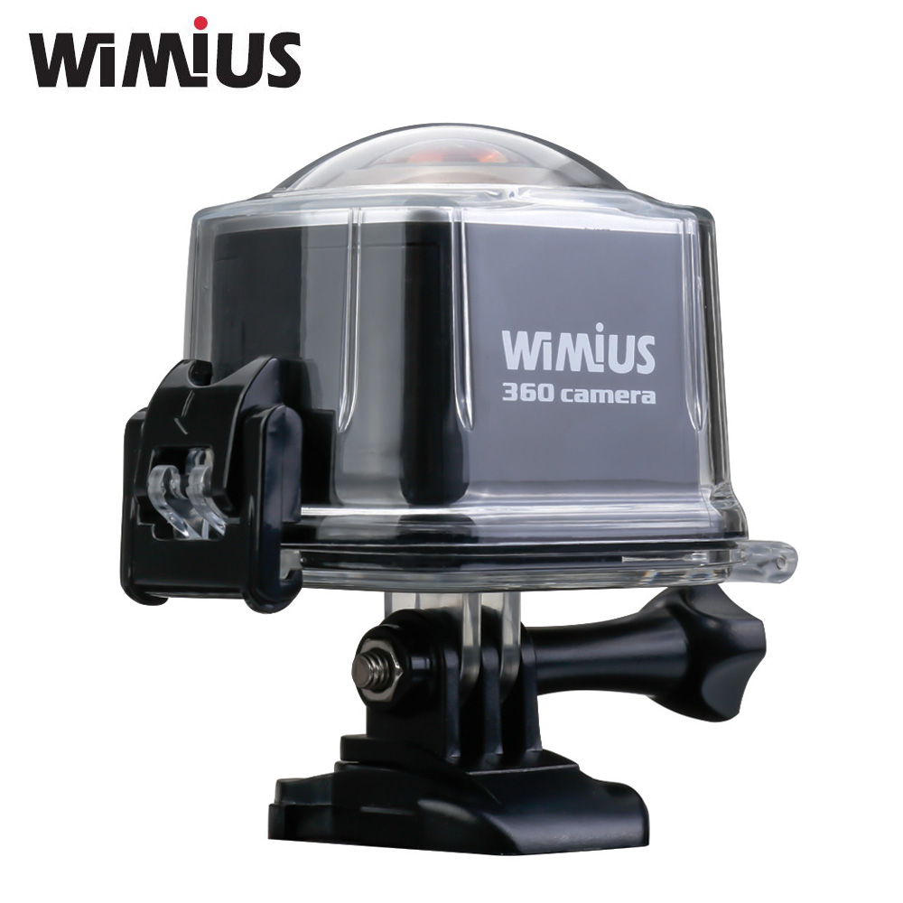 Wimius 4K Sports Action Camera 360 Degree Cam Wifi VR Panorama 16MP 2448P 30FPS Full HD Mini Video Helmet Go Waterproof Pro Cam pca 6186lv rev b2 p4 full length card industrial motherboard 100% tested perfect quality
