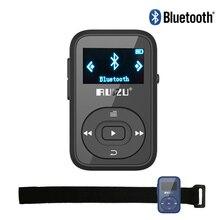 Mini Clip Mp3 RUIZU X26 Bluetooth reproductor de MP3 8 GB Deporte Bluetooth Reproductor de Música Mp3 Radio FM Grabador de 1.1 pulgadas Soporte SD tarjeta