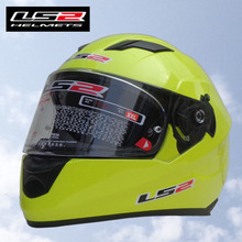 Free shipping LS2 FF320 motorcycle helmet with airbag professional racing motorcycle full helmet fiberglass / Fluorescent yellow