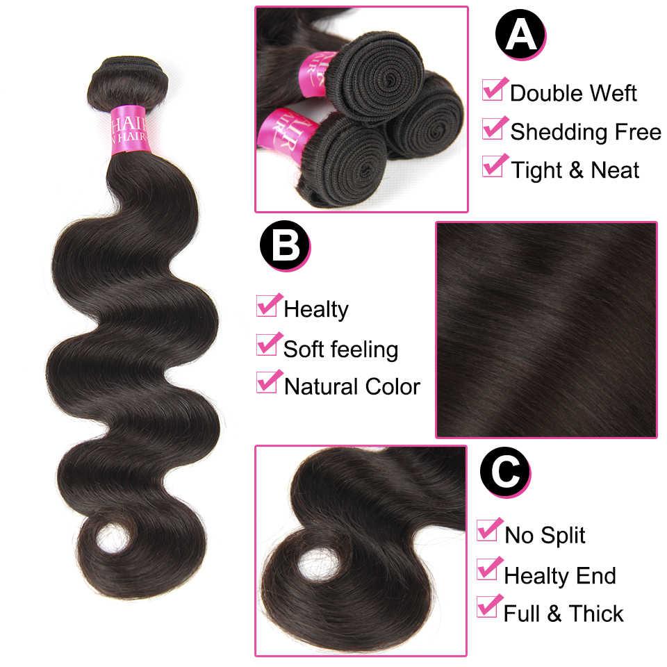 Güzellik lütuf vücut dalga demetleri 100% insan saç demetleri fırsatlar perulu brezilyalı saç dokuma paketler non-remy saç uzatma