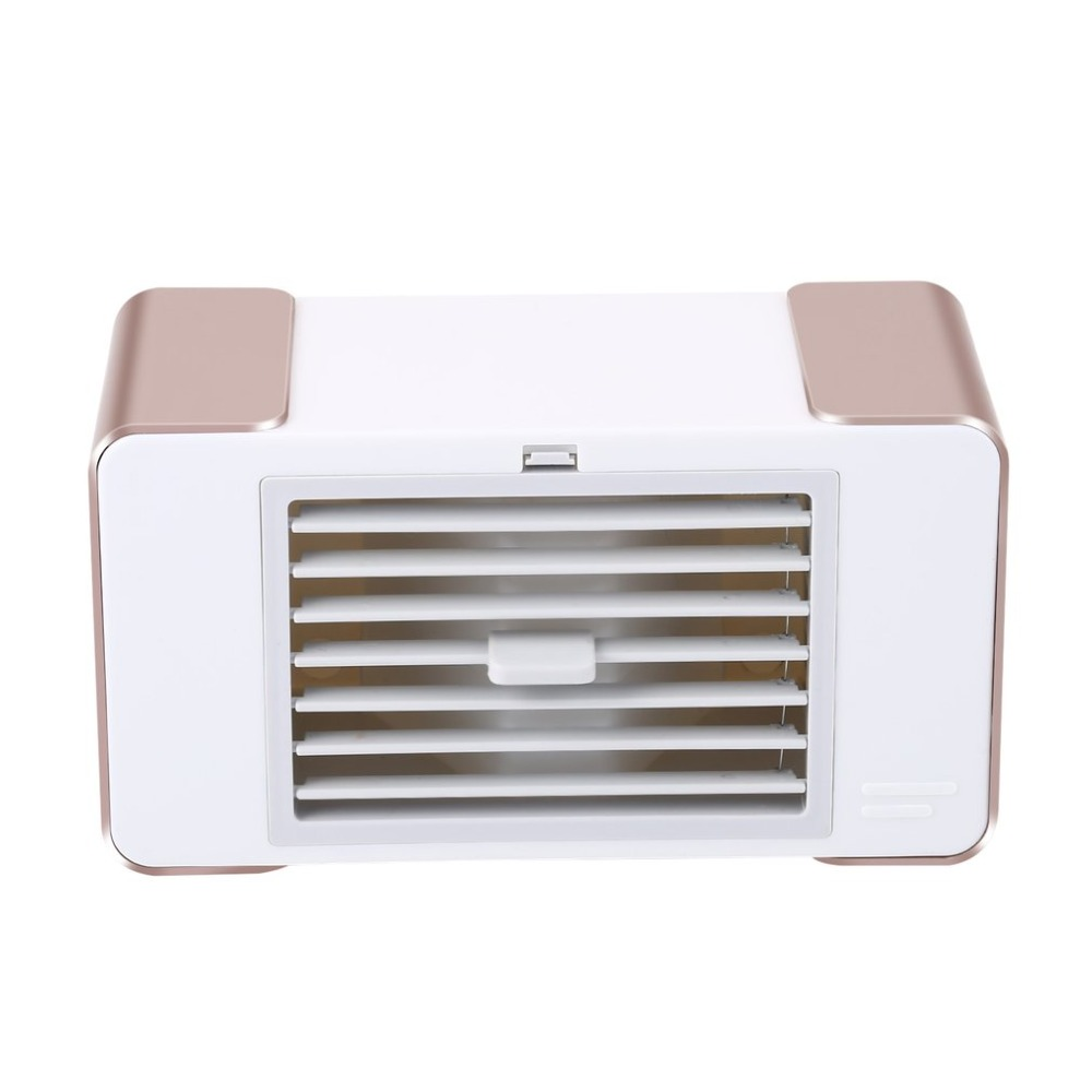 цена на Practical Compact Personal USB Air Conditioner Air Cooler Fan Home Office Desk Air Cooling Bladeless Fan With Moist Humidifier