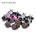 Hepidem hot new das mulheres dos homens óculos de solda vitoriano gótico cosplay steampunk antigo spikes vintage óculos eyewear 7 cores