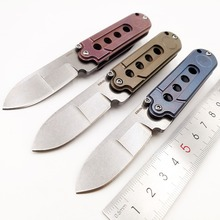 Mini Folding Knife S35VN Blade Titanium Handle Outdoor Camping Pocket Knives Survival Tactical Hunting Utility EDC Tool Keychain