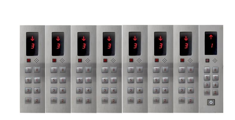 DC24V 8-Floors Hall Call Display Button Plate for Elevator Lift