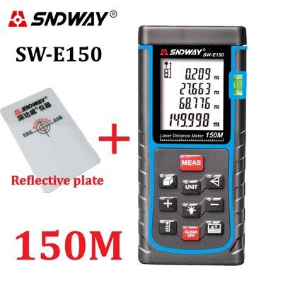 SNDWAY 120M 150M Laser Distance Mete Rangefinder Measure Distance Area volume trena Laser tape range finder