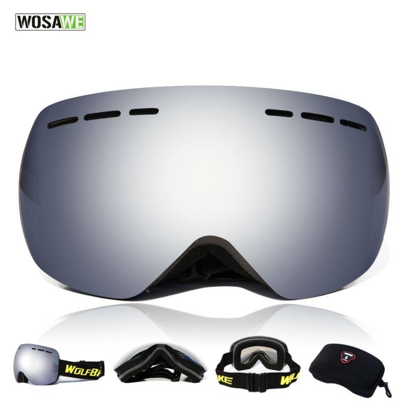 ФОТО WOLFBIKE Outdoor Windproof Ski Glasses Snowboarding Anti-fog Snow Skiing Glasses Eyewear 4 Color For Snowboard Skiing Sports
