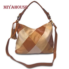 Miyahouse PU Leather Casual Shoulder Bag For Women Large Capacity Messenger Bag For Female Diamond Lattice Crossbody Bag Lady