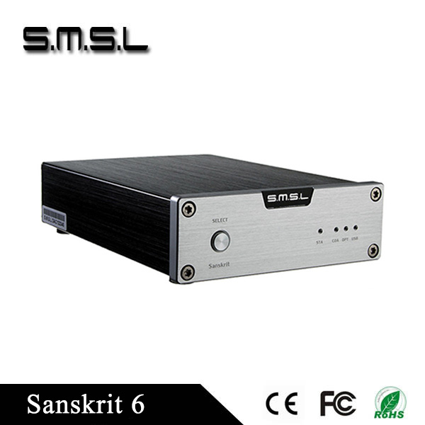 SMSL Latest 6th Sanskrit USB 32BIT/192Khz Coaxial SPDIF Optical DAC HIFI decoder New Version power adapter include