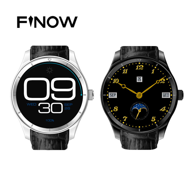 Finow Q3 font b Smart b font Watch 1 4 Inch AMOLED Android 4 4 Pedometer