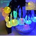 30 led forma de la bola de luz solar de la secuencia de 2 V 100 mAh Tres modos de luz de navidad festival de la lámpara el banquete de boda