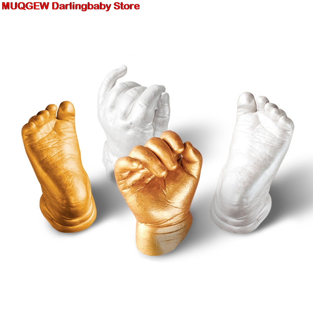 3d Plaster Newborn Baby Handprint Footprint Mould Party Supplies Home Diy Gift Decoracion Hand Footprint Makers Baby Souvenirs