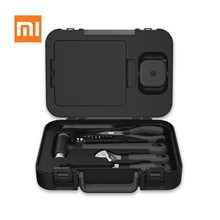 Xiaomi MIIIW 6+2 DIY Tools Kit Toolbox Household Hand Repair Tools with Screwdriver Wrench Hammer Tape Plier Knife ToolBox(China)