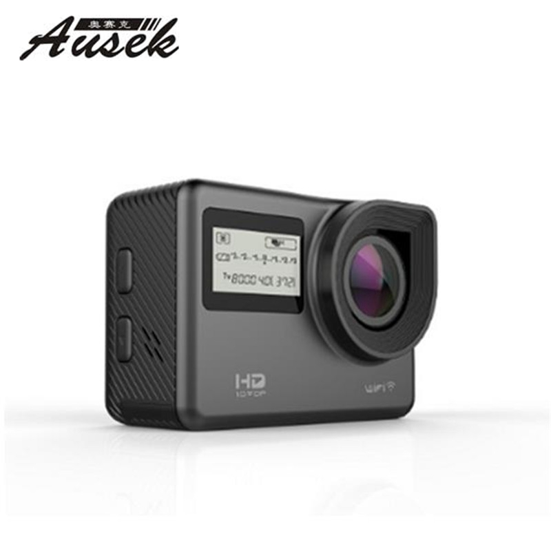 Ausek AT-S656 4K 170 Degree Ultra HD Wide-Angle Waterproof WIFI Sports Action Sport Camera Black VS Firefly Hawkeye SJcam f88 action camera black