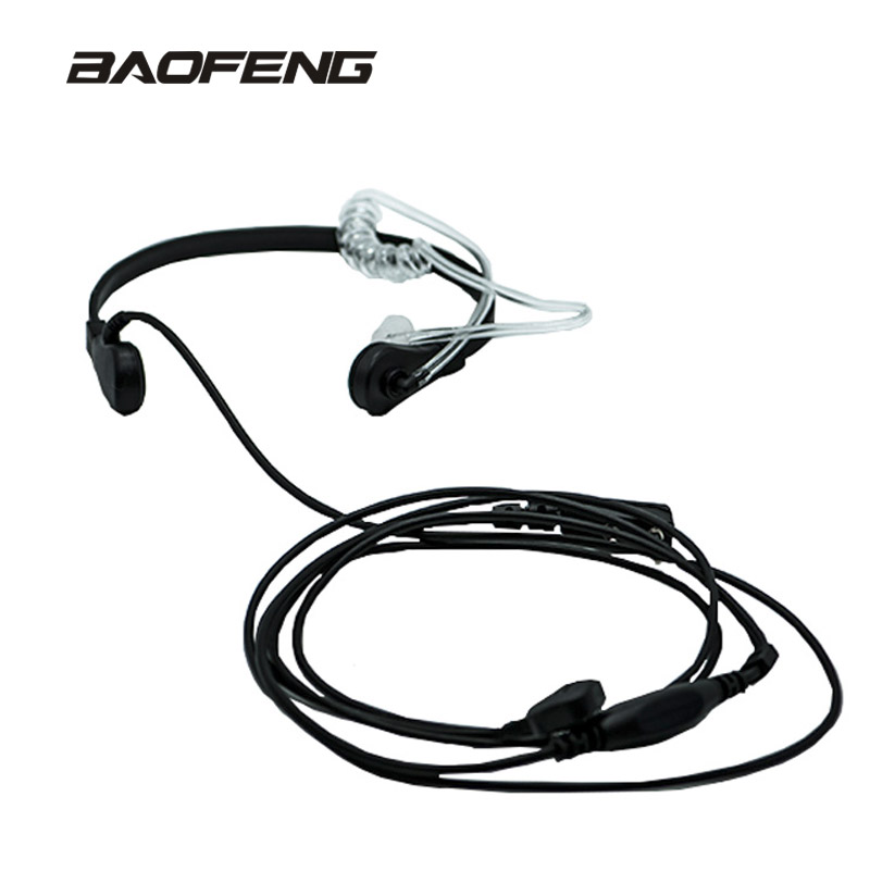 New brand Throat Microphone Throat Vibration Headset For Two Way Radio BaoFeng UV-5R UV-B5 UV-B6 BF-888S talkie walkie
