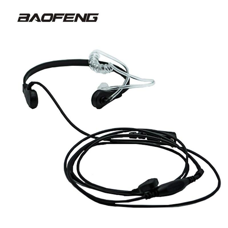 New brand Throat Microphone Throat Vibration Headset For Two Way Radio BaoFeng UV-5R UV-B5 UV-B6 BF-888S talkie walkie
