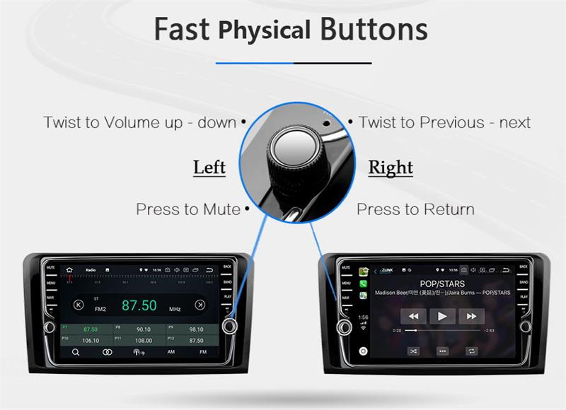 Top 9 inch Android 8.1 4G Car Multimedia Player GPS Navigation For Toyota REIZ 2010-2018 8