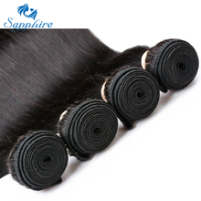 Sapphire Malaysia Human Hair Bundles Malaysia Straight Remy Hair Extensions 3PCS/Lot Natural Color Salon 100% Human Hair Weaving