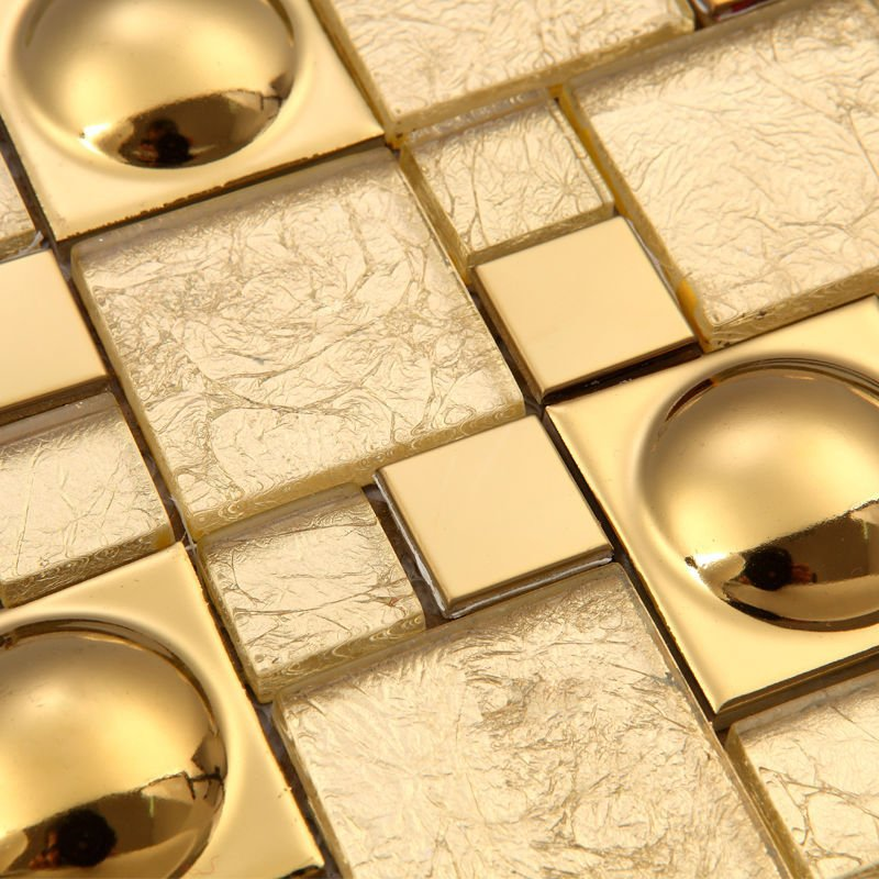 Magic pattern Gold Glass Kitchen Backsplash tiles Ideas Bathroom Walls pool  bar hotel room remodling porcelain discounted tiles - Discount Backsplash Tiles Promotion-Shop For Promotional Discount