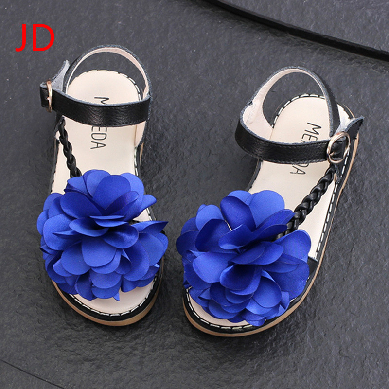 JD New Childrens Leather Sandals, Girls Fashion Flowers, Princess Shoes, Childrens Sanda ...