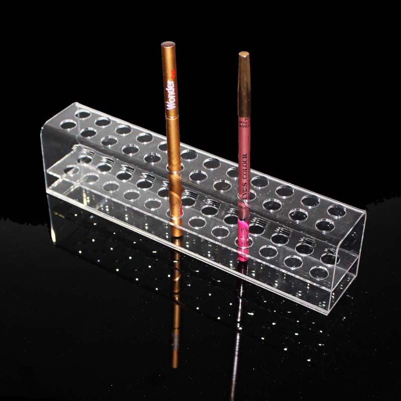 High Quality Acrylic Pen Pencil Stand Holder Makeup Cosmetic Brush Storage Organizer Rack Eyebrow Pencil Jewelry Display Shelf(China)
