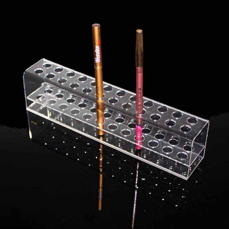 High Quality Acrylic Pen Pencil Stand Holder Makeup Cosmetic Brush Storage Organizer Rack Eyebrow pencil Jewelry Display Shelf
