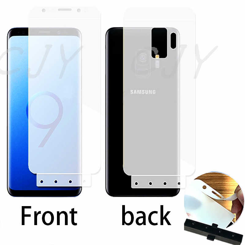sports shoes fbe25 e291a Full Cover Soft silicone Hydrogel Front and back Screen Protector For  Samsung Galaxy s7edge S8 S9 Plus Note 8 9 hydrogel Film