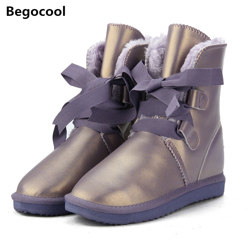 Australia Classic High Quality Women Snow Boots Genuine Cowhide Leather Boots Fur Winter Boots Warm Thick Women UG Boots