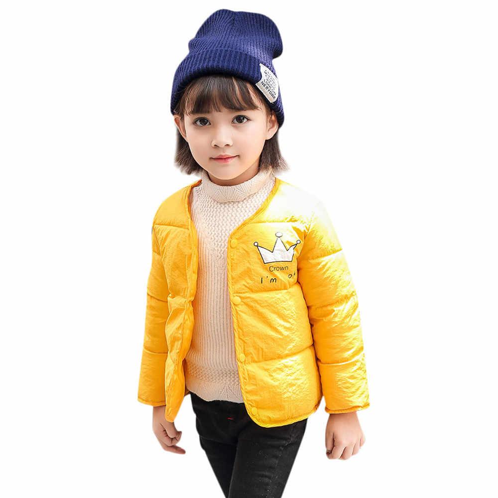 ARLONEET 2018 moda niños bebé niña niño invierno chaqueta de dibujos animados capa gruesa ropa de abrigo caliente ropa SPT21